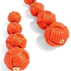 J. Crew Orange Love Knot Earrings